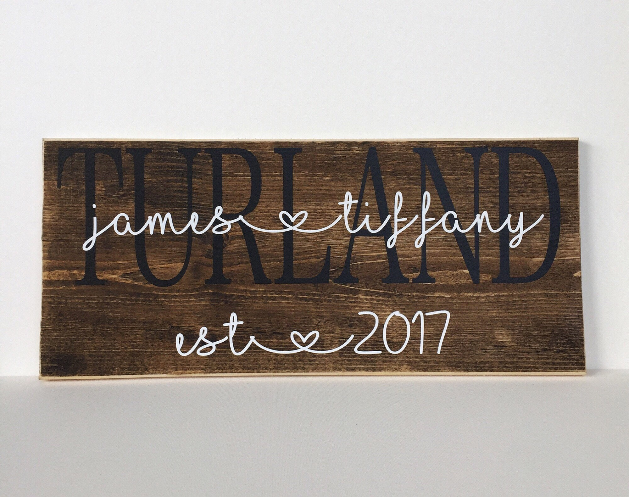 Couples Sign  Family Name Sign   Farmhouse   Wood Sign   Family Wall Art    Rustic Decor   Customized Name