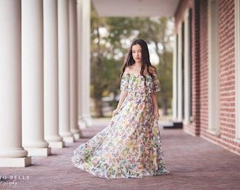 Girls Boho Lace Butterfly Dress, Boho Flower Girl Dress, Lace Maxi Dress, Vintage Lace Dress, Tween Dress, Toddler Lace Dress, Delphine