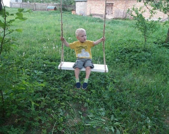 Wooden swing pore, Wood Swing, Indoor Swing, Porch Swing, Wedding Gift, Rope Swing, Gift for Family, Peg and Awl