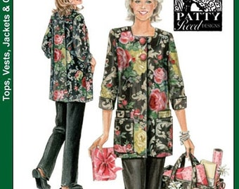 ON SALE Misses' Hobby Coat, Pants and Tote Bag Sewing Pattern Simplicity 4746 Patty Reed Designs Size 6-16 Bust 30.5-38 UNCUT