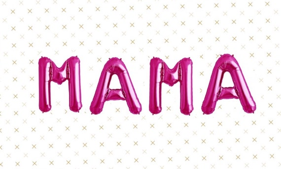 MAMA Balloons Mothers Day Best Mom Ever Gold Silver Pink Party Decoration Birthday MOM