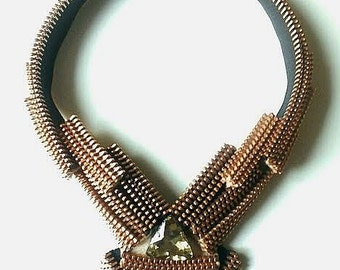 The Star Nouveau Zipper Necklace