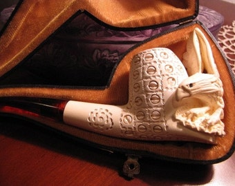 Meerschaum Eagle Pipe  /VINTAGE PIPE Unique Turkish Pipe/ Ideal Pipe collectible