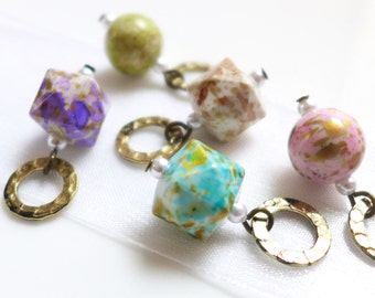 Dreaming of Spring - Five Handmade Stitch Markers - Fits Up To 6.5mm (10.5 US) - Last Sets