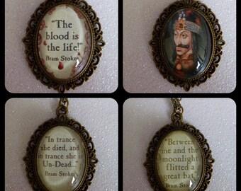 Dracula Bronze Vintage Cameo Necklaces