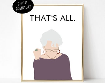 That's All, The Devil Wears Prada, Miranda Priestly, Meryl Streep, Pop Culture, Digital Print, Movie Quote, Minimalist Poster
