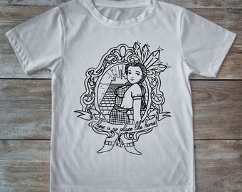 Dorothy shirt, wizard of oz shirt, oz tattoo, wizard tee, hipster gift, Tattoo shirt, classic tattoo art, tattoo girl, gift for tattoo lover