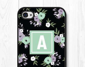 iPhone 6 Case Floral Phone Case Samsung Galaxy S7 Case Floral iPhone 6 Plus Case Mint iPhone 5 Case Floral Samsung Galaxy S6 Case