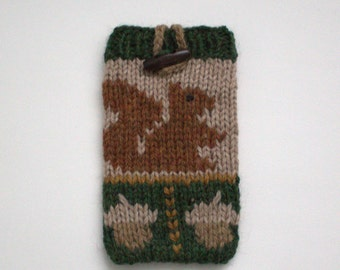 Cell phone case, knitted cell phone case, cell phone cozy,Hand knit cell phone case