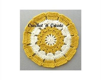 Small Doily Crochet Pattern (DOWNLOAD) CNC01