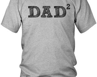 Dad 2 Men's T-Shirt, Dad Squared, Father of 2, Proud Dad, Loves Kids, Papa, Daddy, Dada,Parent, Men's Dad Shirts AMD_1684