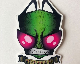 "Invader Zim | Mindwarp Art - ""Invader"" - Sticker"