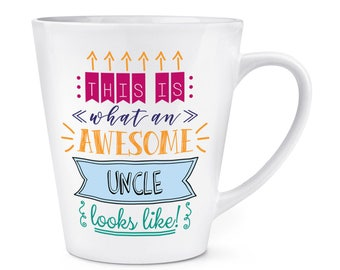 This Is What An Awesome Uncle Looks Like 12oz Latte Mug Cup