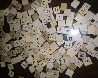 Lot of 200 Scrabble Tiles for Jewelry making or other crafts