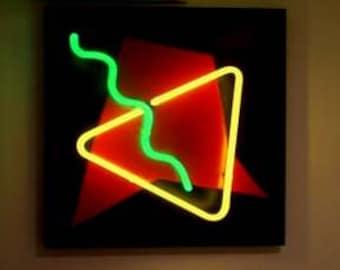 Abstract Neon Art Wall Hanging Sculpture Modern Unique Design