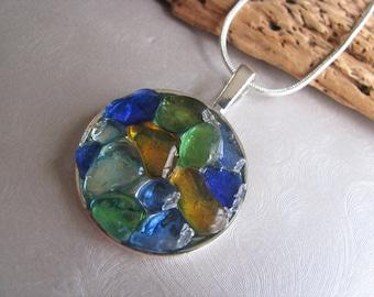 Authentic Sea Glass Jewelry -Multi-Colored Sea Glass Necklace - Sea Glass Jewelry - Sea Glass Necklace - Beach Glass Jewelry - PEI sea glass