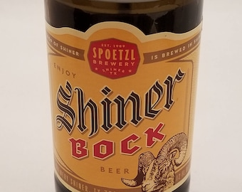 Shiner Bock Beer Bottle Candle (Sandelwood Scent)