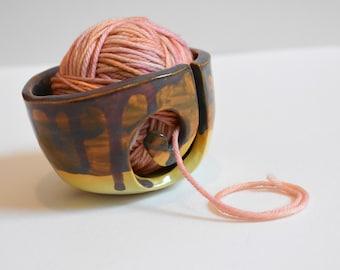 Mini Yarn Bowl - miniature yarn bowl - small ceramic yarn bowl - knitting bowl - pottery bowl - knitting bowl - crochet bowl - yarn holder