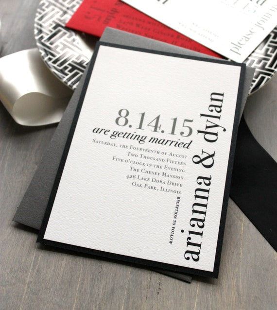 Modern wedding invitations wedding invitation urban chic like this item stopboris Choice Image