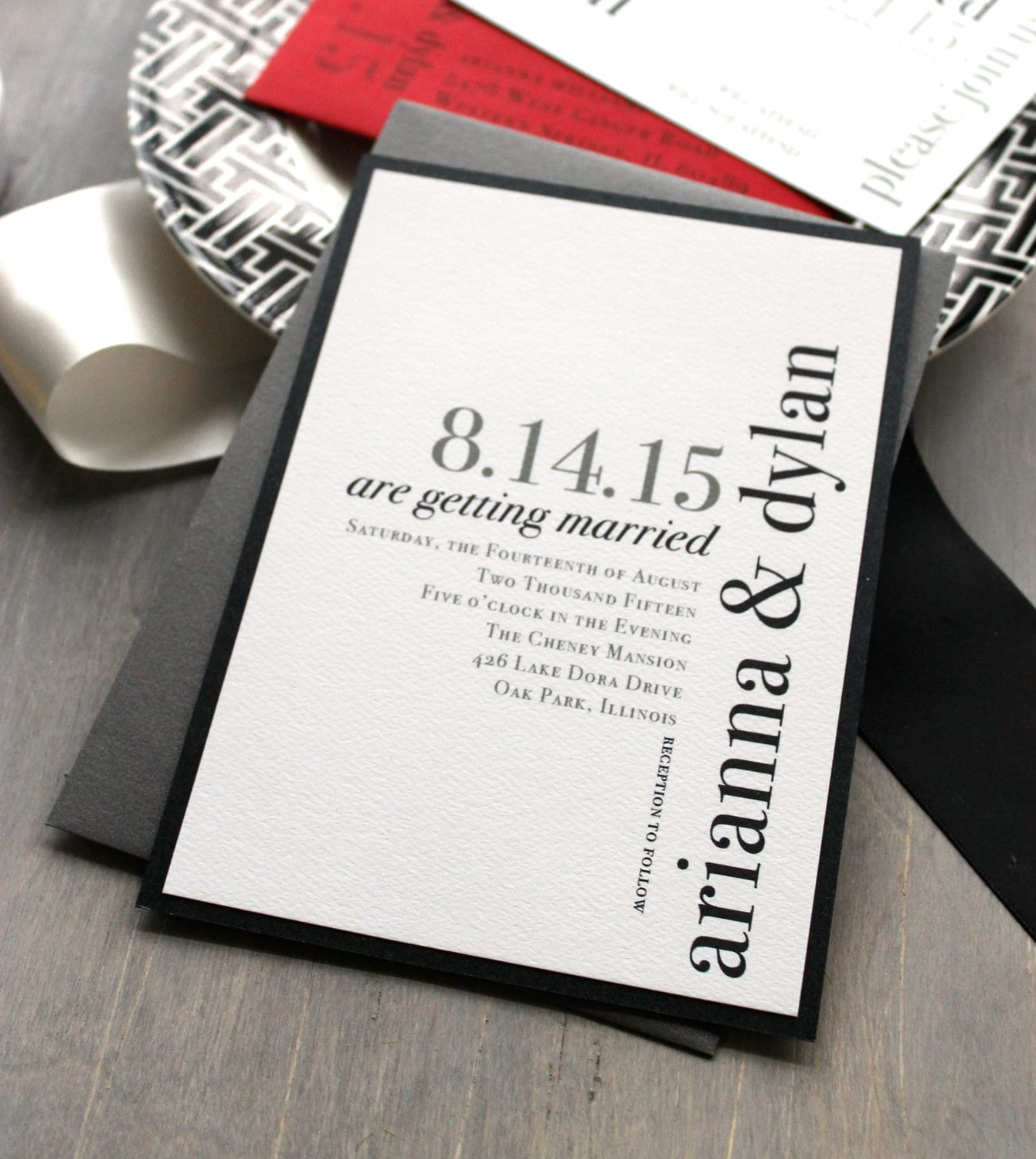 Modern Wedding Invitations Wedding Invitation Urban Chic