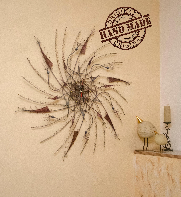Large wall clocks Metal wall art Wedding gift Wall decor