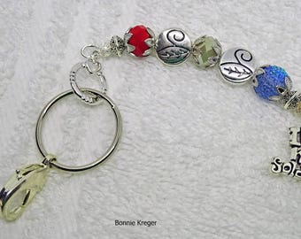 "Key Chain with ""Love My Soldier"" Charm"