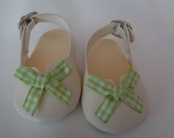 Ivory- 18 inch Doll - Slip On Sling back- Sandal Loafers-shown on my american girl doll Also fits kidz N Cats Dolls