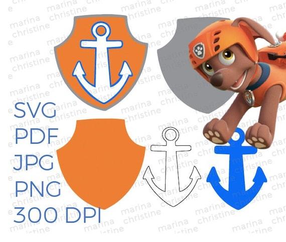 Zuma Paw Patrol Badge Puptag Pattern Cricut Silhouette