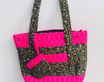 Purse: Pink Pansies