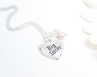 Big Sister Necklace - Big Sister Jewelry - Big Sister Gift - Pregnancy Announcement
