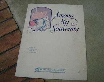 1927  vintage sheet music ( Among My Souvenirs  )