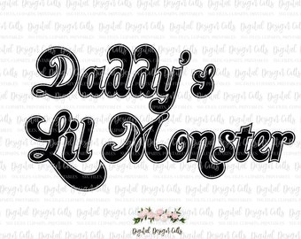 Daddy's Lil Monster SVG Harley Quinn Suicide Squad Iron-on, SVG, dxf, png, pdf cutting file, Harley Quinn T-shirt, Suicide Squad Halloween