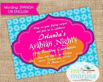 Arabian Nights Printable Invitation 02