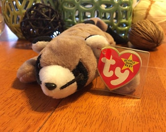 TY Beanie Baby - RINGO the Raccoon (8 inch) - Stuffed Animal Toy
