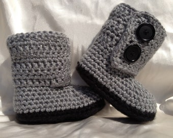 Baby Girl Boy Crochet Baby Boots