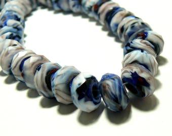Primer 2 gorgeous purple facette2j2601 Midnight blue glass rondelles