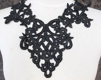 Cute venice applique  black color 1 pieces listing