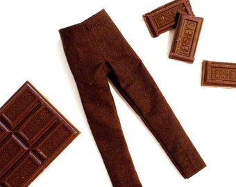 Chocolate Brown Skinny Pants for Blythe Doll by Pistachio Libby