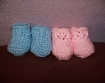 His and Hers Baby Booties