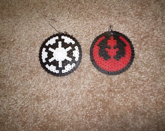 Star Wars Christmas Ornaments - Rebel and Empire symbols