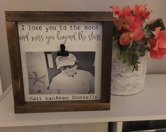 Memorial Frame, Personalized Frame,