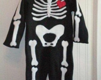 Cute Skeleton Costume 12M - 2T