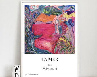 "A4, A3 Limited Edition Art Poster of Painting ""La Mer"" Contemporary Art"