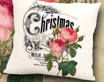 Printable Digital downloads CHRISTMAS ROSES large Images to print on fabric or paper Iron On Transfer for tote bags t-shirts pillows ArtCult