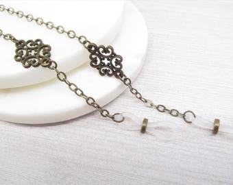 Eyeglass Chain for women in antique brass; Eyeglasses Leash; Glasses Cord; Reading Glasses Holder Necklace; Glasses Lanyard; kalxdesigns