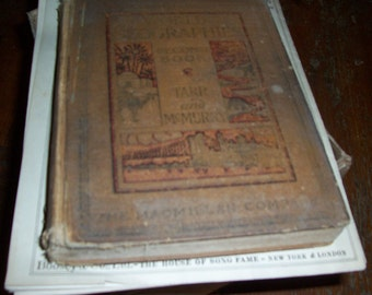 reserved for BEN don't buy 1919 ANTIQUE WORLD GEOGRAPHIES TARP AND MCMURRY SCHOOL BOOK