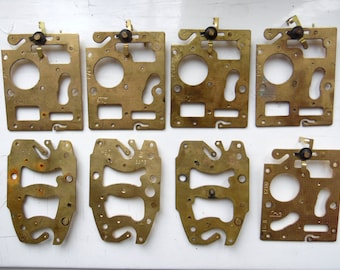 Set of 10 Vintage Alarm Clock Parts / Steampunk Supplies / Jewelry Projects (022)