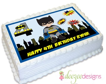 Batman Superhero A4 Edible Icing Cake Topper - EI081A4