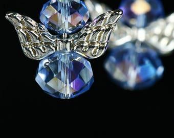 Guardian angel Swarovski Crystal earrings