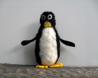 Catnip Cat toy  penguin, needle felted